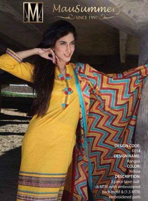 Mausummery Lawn Collection 2013 for Ladies 001