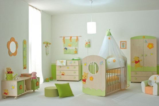 Newborn baby room decorating ideas and pictures for Baby room interior decoration