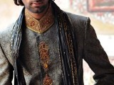 Pakistani Designer Groom Sherwani Designs 2013 005