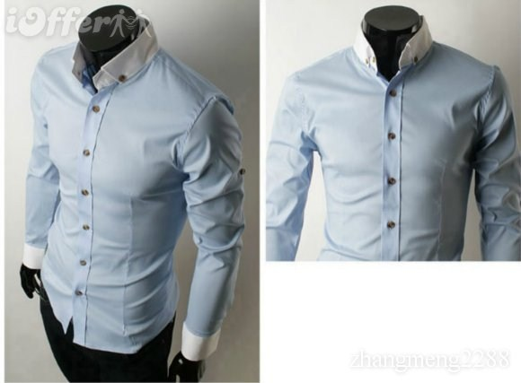 2013 new style mens shirt male models picture
