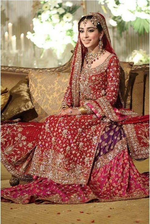 Bridal pakistani dresses suits mehndi designs pic for Online pakistani wedding dresses