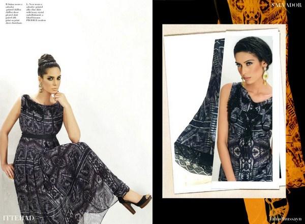Print Museum Luxury Lawn Classics 2013 By Fahad Hussayn 002