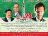 PTI Imran Khan Jalsa 23 March 2013 At Lahore Minar-e-Pakistan