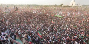 PTI 28th April Karachi Jalsa pictures Imran khan speech live