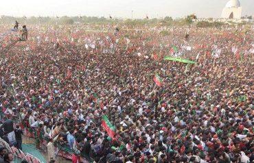 PTI 28th April Karachi Jalsa pictures Imran khan speech live