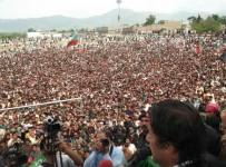 PTI Baluchistan jalsa live 1 May 2013 pictures, Imran khan speech