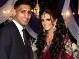 Boxer Amir Khan and Faryal Makhdoom wedding pictures,photos,pics