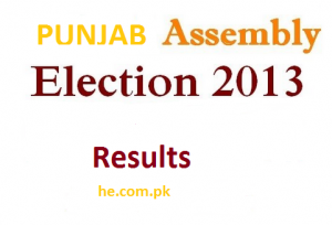 Punjab assembly PP elections 2013 results