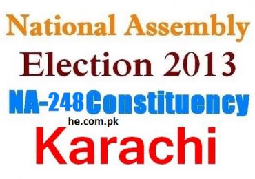 Na 248 Karachi results, winners list election 2013