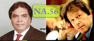 NA 56 Rawalpindi results election 2013, Imran Khan PTI vs Hanif Abbasi PML