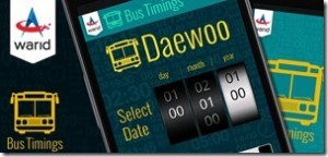 Warid Bus Schedule application APP for Daewoo introduced