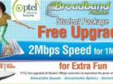 Up gradation of PTCL Broadband student package to 2Mbps