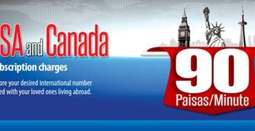 Warid lowest International Call Rates for USA, Canada and UK offer