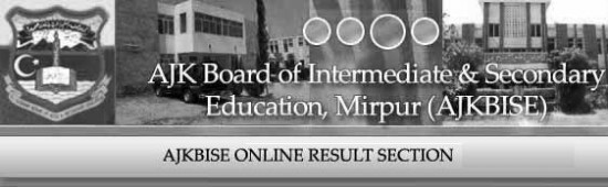 BISE AJK Mirpur Board Matric, 10th Class Result 2014
