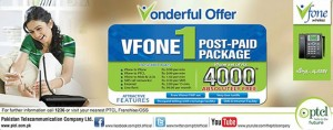 Vfone Postpaid Package ONE launched by PTCL