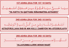 Ramadan First, Second, Third Ashra Dua 2014