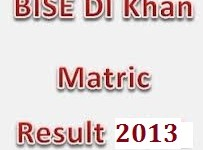 Bise DI khan SSC part 2 matric result 2013