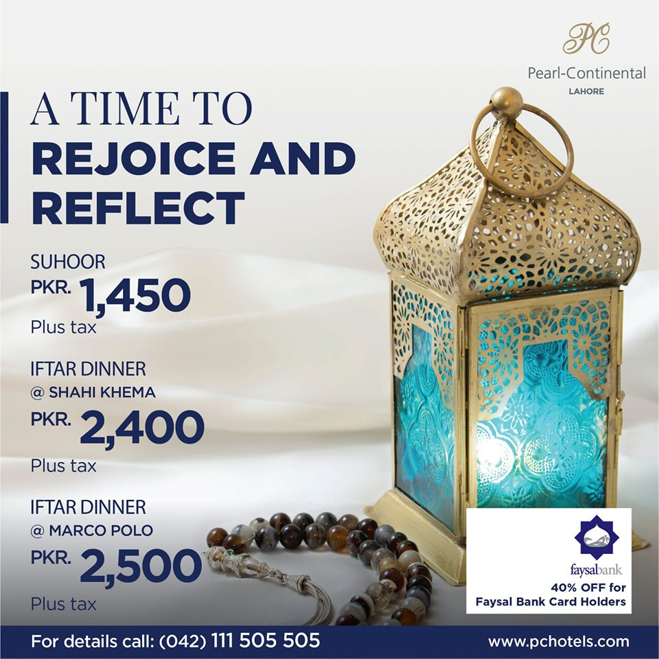 the iftar offers of PC