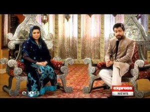 Rehman Ramzan with Maya Khan and Junaid Iqbal on Express News
