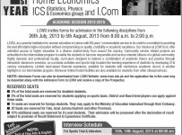 www.lcwu.edu.pk Prospectus,Admission form,Registration 2013 Online