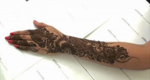 Best Black Mehndi Design for Women 2013