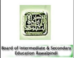 BISE Rawalpindi Board Inter Part 1 Result 2014