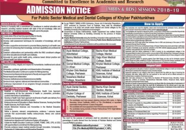 Saidu Sharif Medical College Merit List 2018