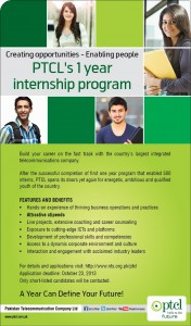 PTCL One-Year Internship Program NTS Test Result 2013