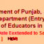 Application Submission date extend Punjab Arts, science Teacher/Educator Jobs 2013