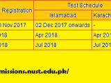 NUST Entrance Test (NET-1) Registration Application Form 2018 for Undergraduate Programs