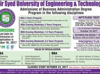 schedule of admission