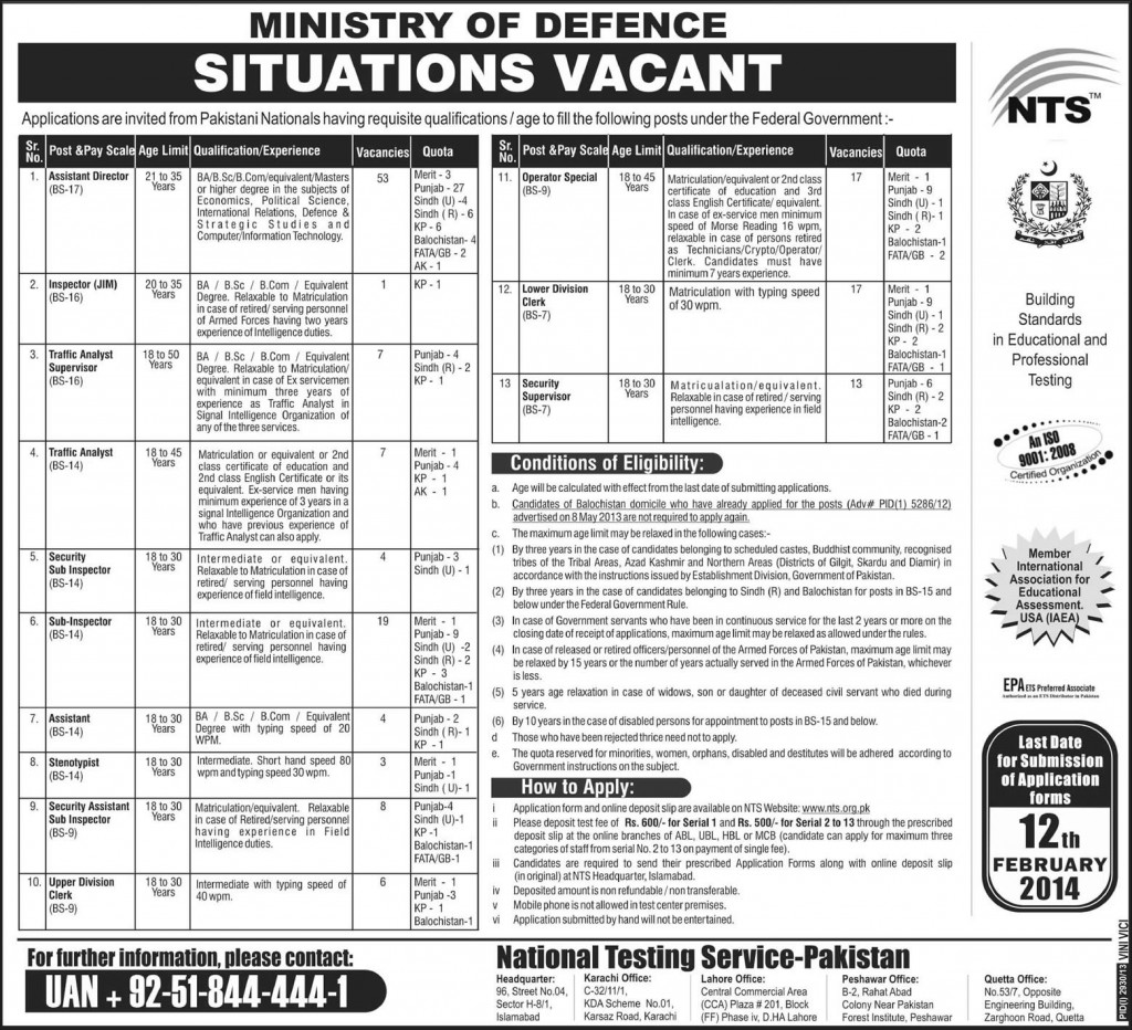 Ministry of Defence Jobs 2014