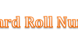 Matric Roll Number Slip 2014 grw board