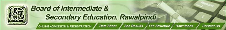 Bise Rawalpindi Board Inter Part 1, 2 Supplementary Result 2014