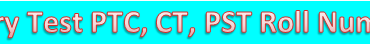 NTS Entry Test PTC, CT, PST Roll Number Slip in KPK School Teachers Job