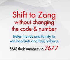 Dial 7677 Shift to Zong Without Changing Code and Number