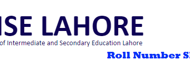 Bise Lahore Board 10th Class Roll Number Slip 2015 Arts, Science Group