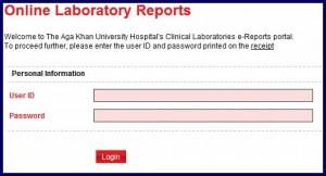 agha khan hospital lab reports