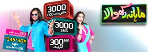 Telenor Talkshawk Mahana Rakhwala Offer, Monthly Package Charges