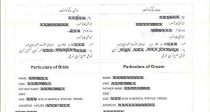 Nikah Nama Form in English, Urdu Download by Nadra Pakistan, Online Procedure