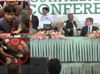 Shoe throws at CM Punjab Shahbaz Sharif Pictures