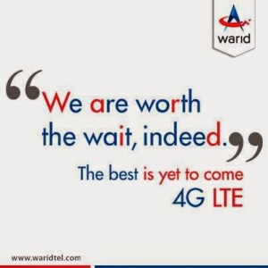 Warid 4G LTE Launching Date Speed Test Free Trial
