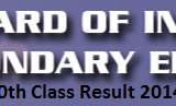 FBISE 10 Class Result 2014 by Name Federal Board Islamabad 10th