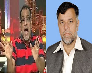 Fight between Mian Marghoob PML n MPA and Ibrahim Mughal Analyst Journalist in Show