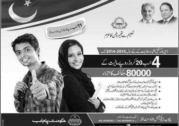 Punjab Education Endowment Fund PEEF Scholarships 2014-2015 Form