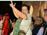 shireen mazari azadi long march dance picture