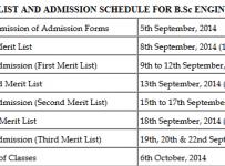 CECOS schedule