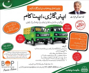 BOP Application Form Apna Rozgar Scheme by CM Punjab for Bolan Ravi