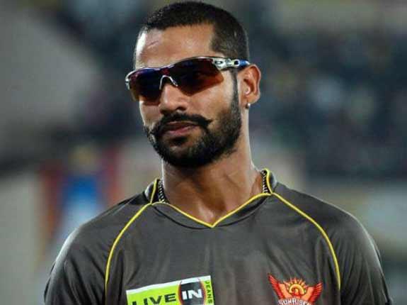 Shikhar Dhawan Moustache Style
