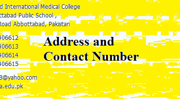 Abbottabad International Medical College Merit List 2021